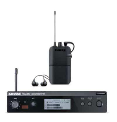 SHURE PSM 300 Sistema di monitoraggio Ricevitore P3R, Trasmettitore P3T e SE112