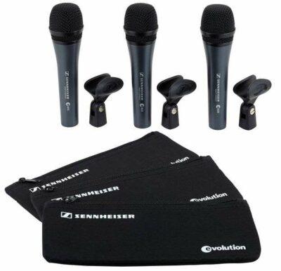 Sennheiser e835 3-Pack Microfono cardioide