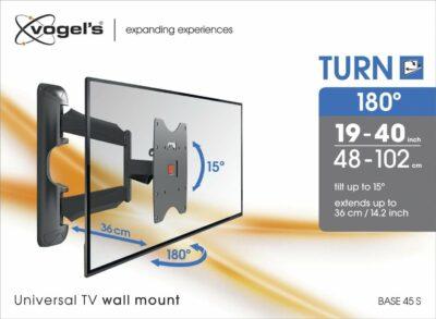 Vogel's BASE 45 S Staffa TV Girevole