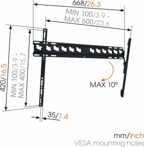 Vogel's MA 4010 Staffa TV Inclinabile