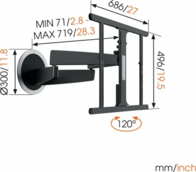 Vogel's NEXT 7355 MotionMount Staffa TV movimento automatico Nero