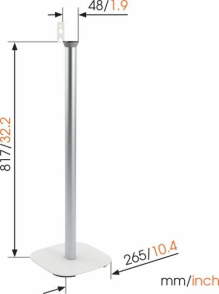 Vogel's SOUND 4301 Stand per casse Sonos PLAY:1 Bianco