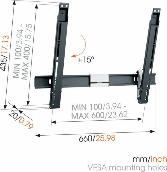 Vogel's THIN 515 Staffa TV Inclinabile Nero