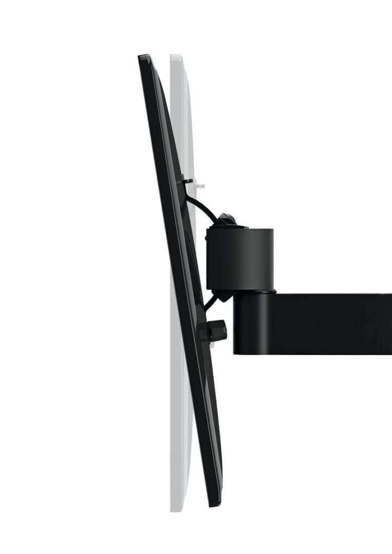 Max 15 kg e fino a VESA 200x200 Vogels WALL 3125 Supporto da Parete per TV da 19-40 Pollici Inclinabile e Girevole 120/º