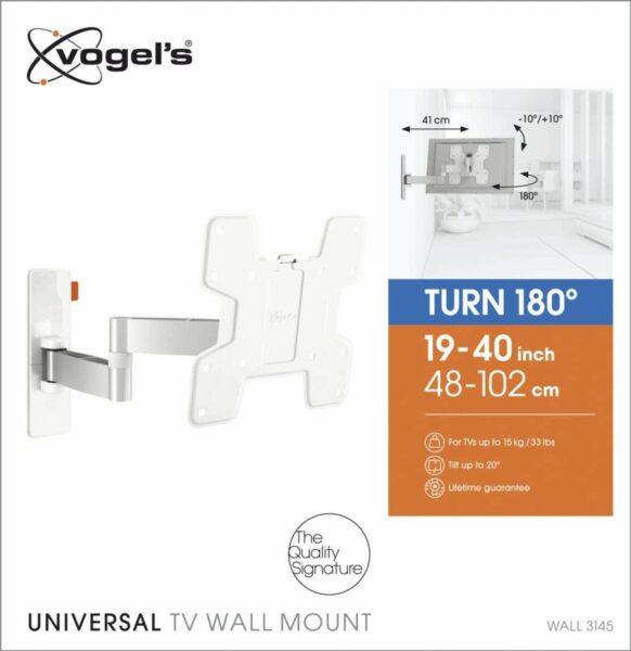 Vogel's WALL 3145 Staffa TV Girevole Bianco