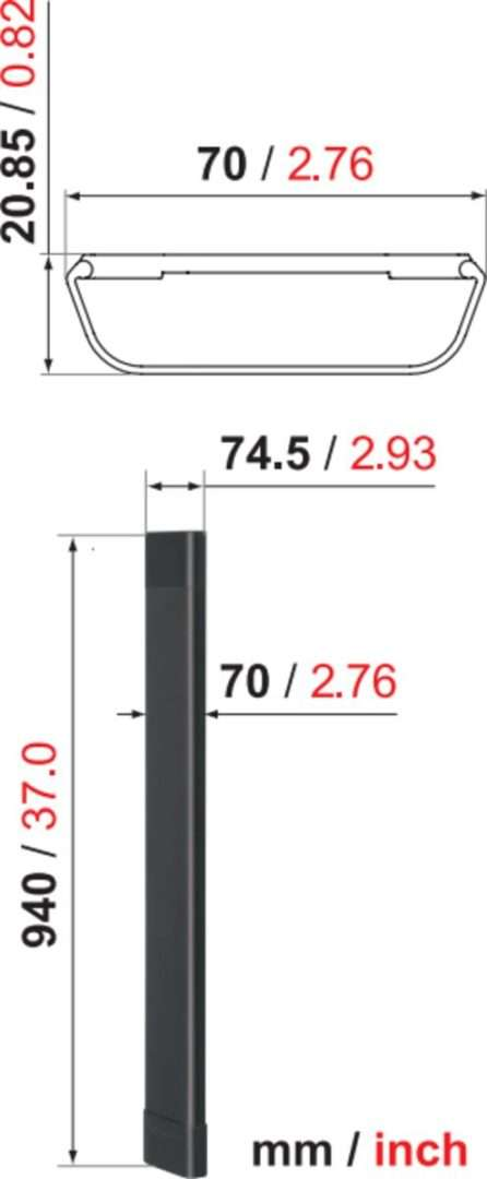 Vogel's CABLE 8 Canalina Nero