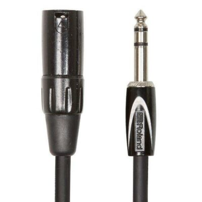 "Roland Interconnect Cable 1/4"" TRS XLR MALE 1mt"
