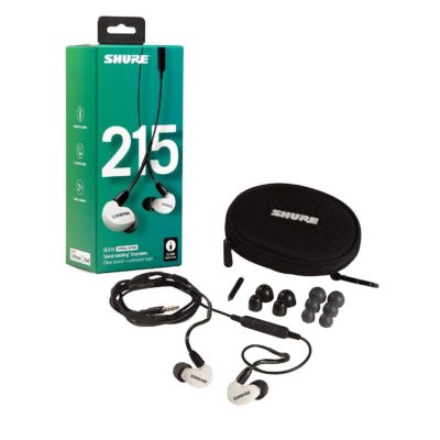 Shure 215 auricolari Sound Isolating Special Edition Bianchi con cavo universale 2