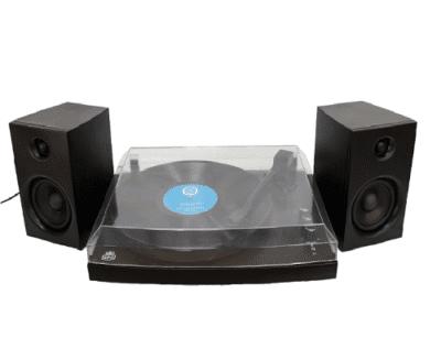 GPO PICCADILLYBLK Giradischi a 3 velocità con Bluetooth e speaker Black