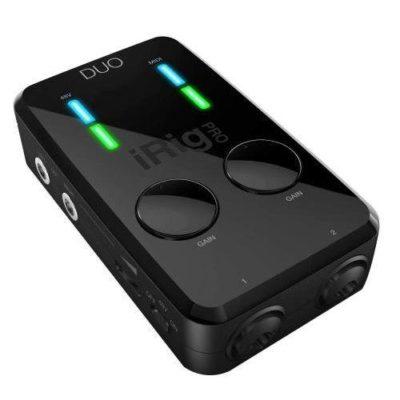 IK Multimedia iRig Pro Duo Interfaccia audio a due canali per sistemi Android, iOS, PC e MAC