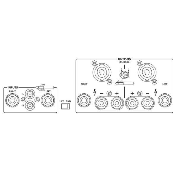 Monacor - STA-700 Amplificatore di potenza 800W