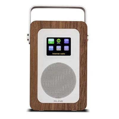 RLine Play R1 Radio Digitale Portatile Walnut Memphis 1
