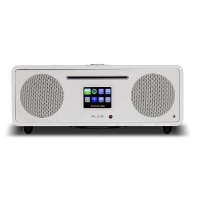RLine Play S3 Radio Digitale Bluetooth Lettore CD White Nashville 1