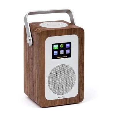 RLine Play R1 Radio Digitale Portatile Walnut Memphis