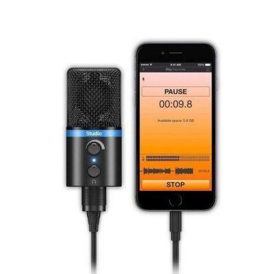 IK MULTIMEDIA iRig MIC Microfono Studio USB Diaframma largo Nero