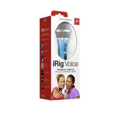 IK MULTIMEDIA iRig Voice Microfono Palmare per sistemi Android, Ios e Mac Blue