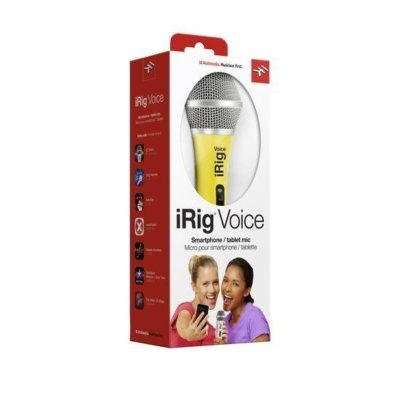 IK MULTIMEDIA iRig Voice Microfono Palmare per sistemi Android, Ios e Mac Yellow