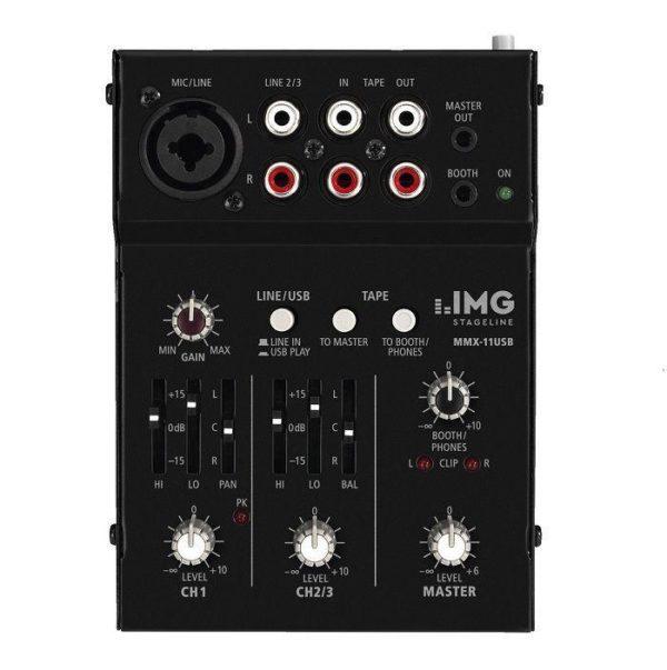 Monacor MMX-11USB Mixer audio mini 2ch