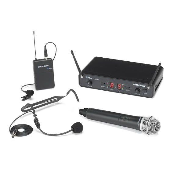 Samson Concert 288 UHF All-In-One dual system (HH+HS+Lavalier) - J (604-654 MHz)