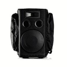 Partybag PB6-RX2-M16C-UHPX-BLK Zaino con cassa, doppio ricevitore, microfono a mano, trasmettitore bodypack e archetto Nero/Blu/Arancione