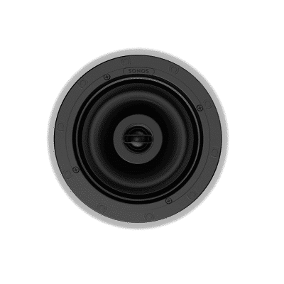 sonos in ceiling by sonance coppia di diffusori da incasso white
