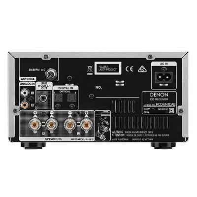 DENON RCD-M41DAB SINTOAMPLIFICATORE MICRO HI-FI CON LETTORE CD, BLUETOOTH E RADIO FM/DAB/DAB+ ARGENTO