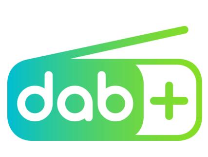 Logo ufficiale segnale digitale DAB+.