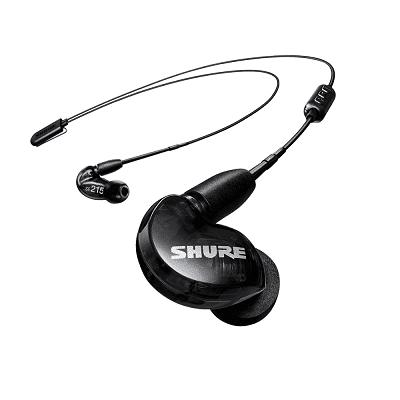 Shure SE215 auricolari Sound Isolating nero con cavo Bluetooth 5.0
