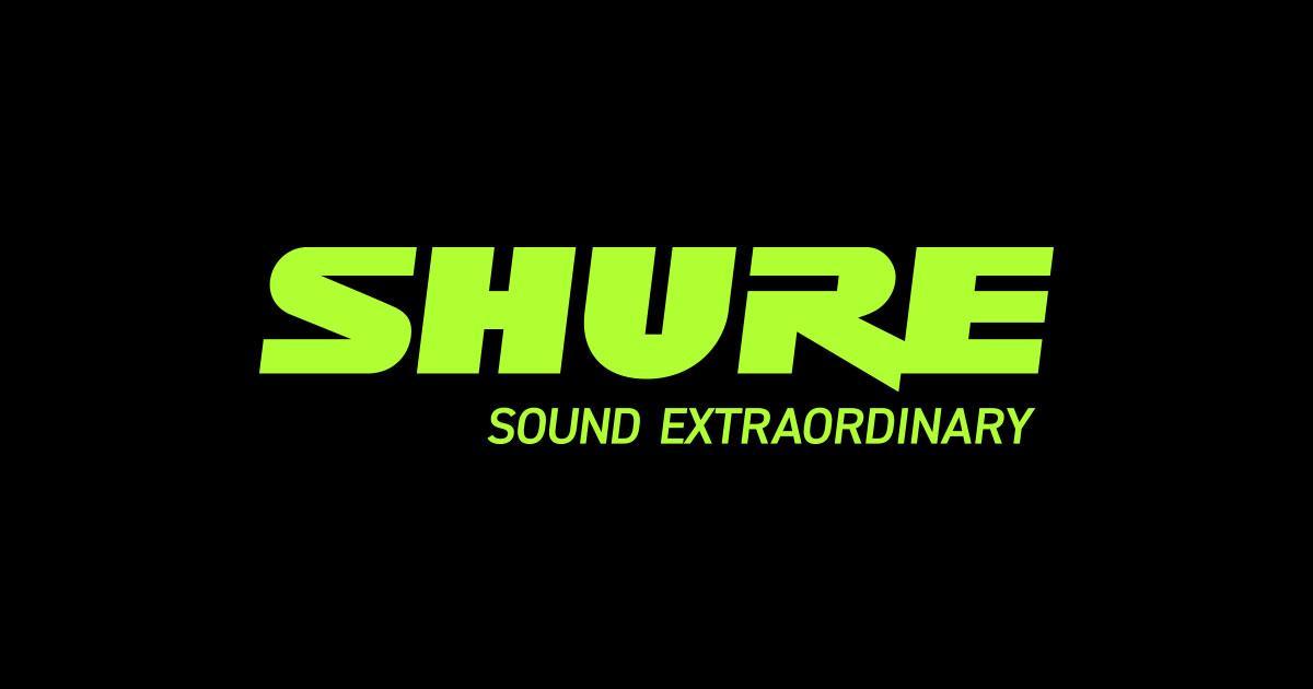 Logo di Shure Incorporated, azienda produttrice di Shure Aonic 50 e Aonic 215.
