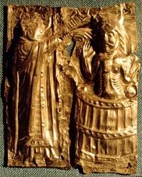 opera raffigurante re Harald Gormsson di Danimarca