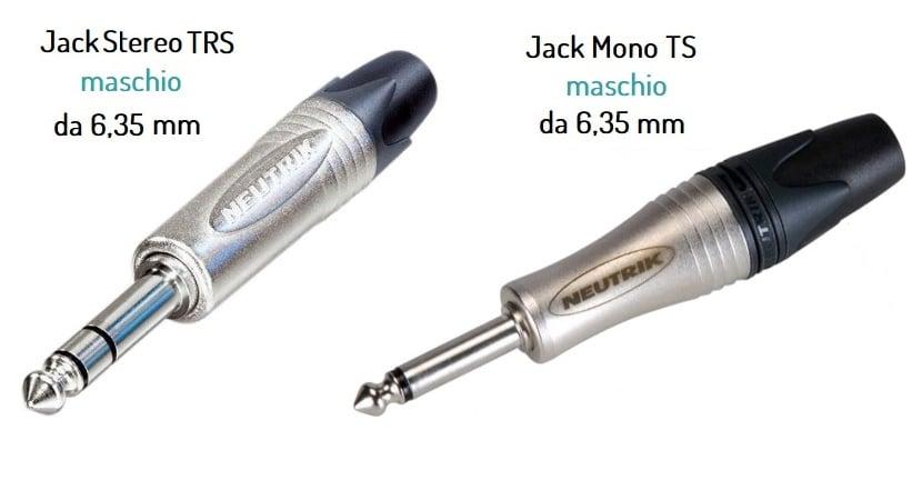 Connettori Jack stereo e mono per cavi audio di potenza