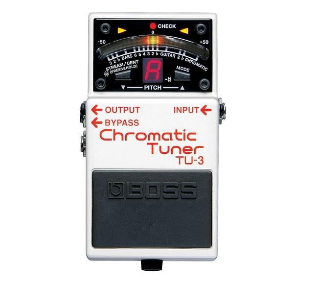 """Ultimo pedale da inserire per costruire una pedalboard """"Pro"""": l'accordatore TU-3 Chromatic Tuner."""